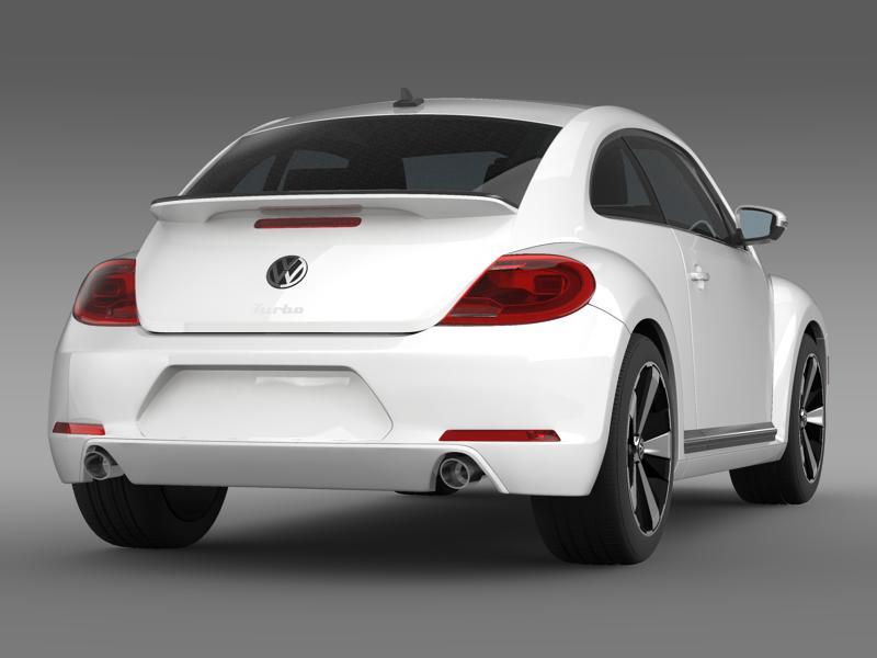 vw beetle turbo black 2012 3d model 3ds max fbx c4d lwo ma mb hrc xsi obj 147531