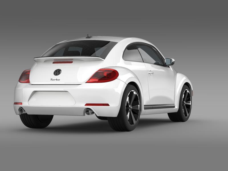 vw beetle turbo black 2012 3d model 3ds max fbx c4d lwo ma mb hrc xsi obj 147532