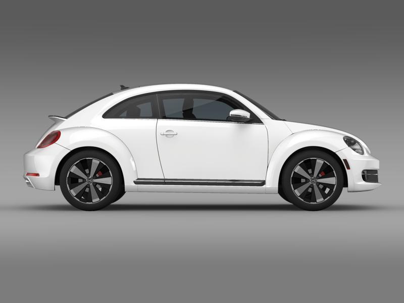 vw beetle turbo black 2012 3d model 3ds max fbx c4d lwo ma mb hrc xsi obj 147534