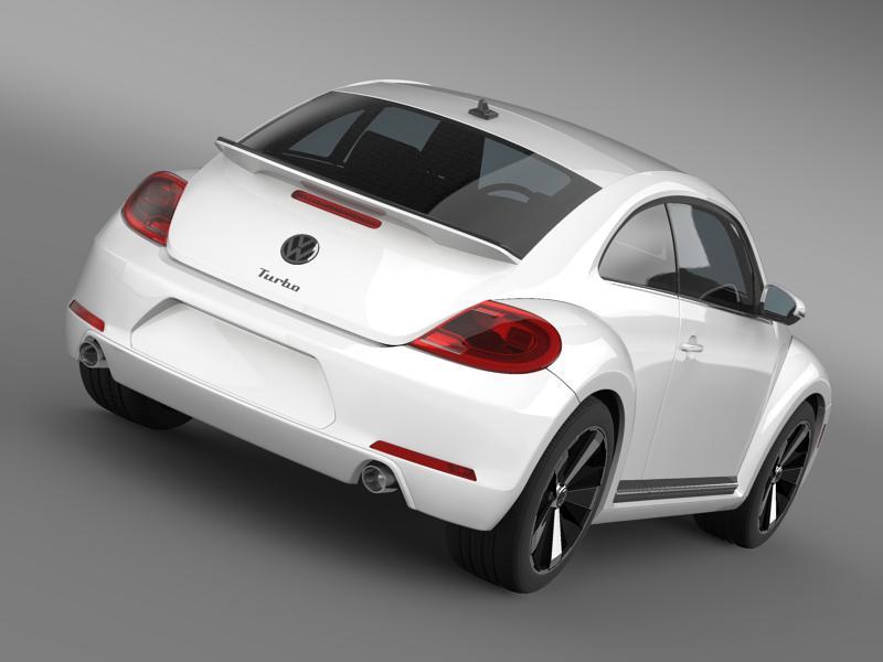 vw beetle turbo black 2012 3d model 3ds max fbx c4d lwo ma mb hrc xsi obj 147538