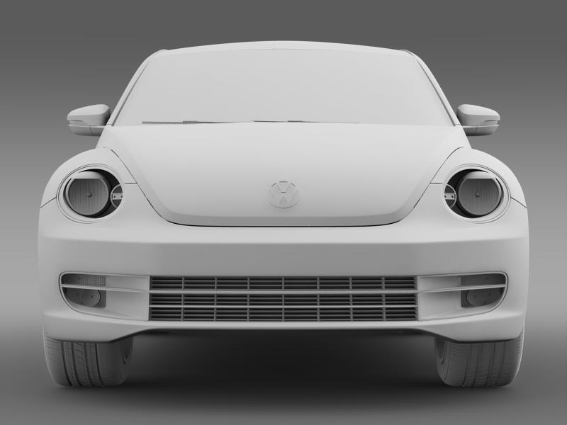 vw beetle turbo black 2012 3d model 3ds max fbx c4d lwo ma mb hrc xsi obj 147539