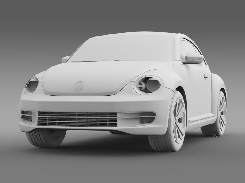 vw beetle turbo black 2012 3d model 3ds max fbx c4d lwo ma mb hrc xsi obj 147540