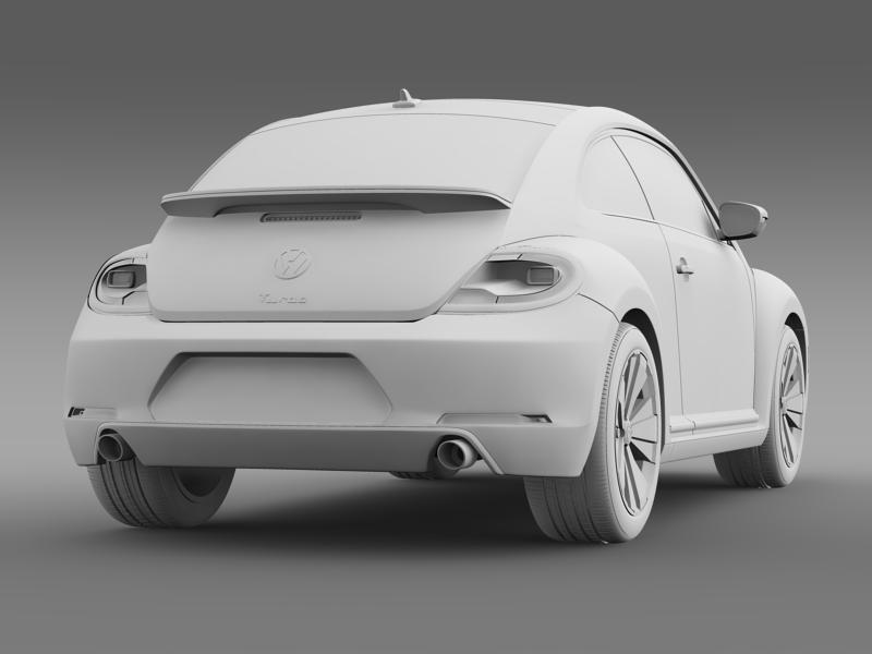 vw beetle turbo black 2012 3d model 3ds max fbx c4d lwo ma mb hrc xsi obj 147541