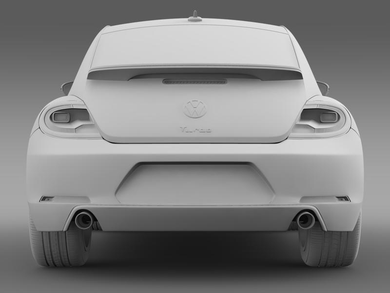 vw beetle turbo black 2012 3d model 3ds max fbx c4d lwo ma mb hrc xsi obj 147542