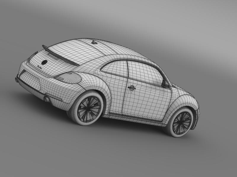 vw beetle turbo black 2012 3d model 3ds max fbx c4d lwo ma mb hrc xsi obj 147546