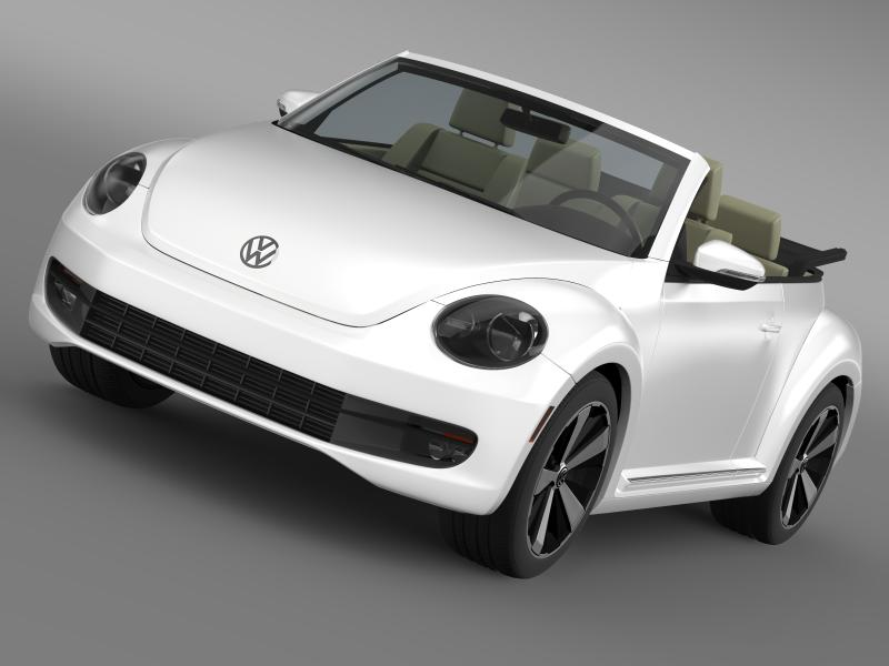 vw beetle turbo cabrio model 3d 3ds max fbx c4d lwo ma mb hrc xsi obj 159898