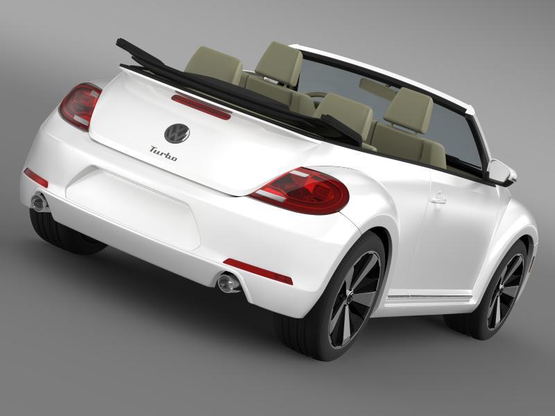 vw beetle turbo cabrio 3d model 3ds max fbx c4d lwo ma mb hrc xsi obj 159899