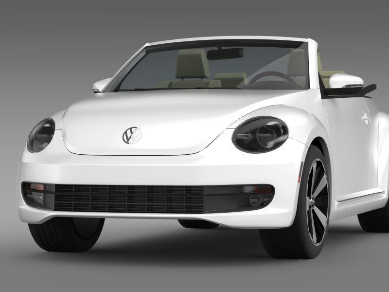 vw beetle turbo cabrio 3d model 3ds max fbx c4d lwo ma mb hrc xsi obj 159900