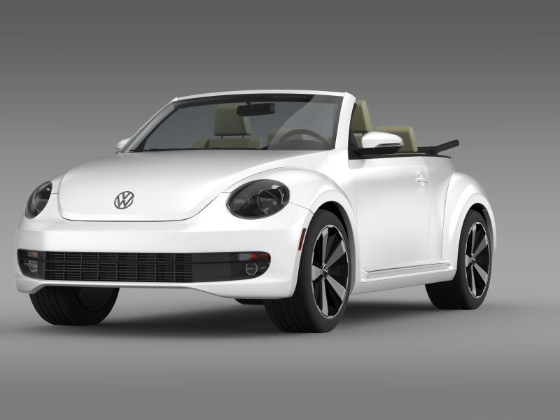vw beetle turbo cabrio 3d model 3ds max fbx c4d lwo ma mb hrc xsi obj 159901