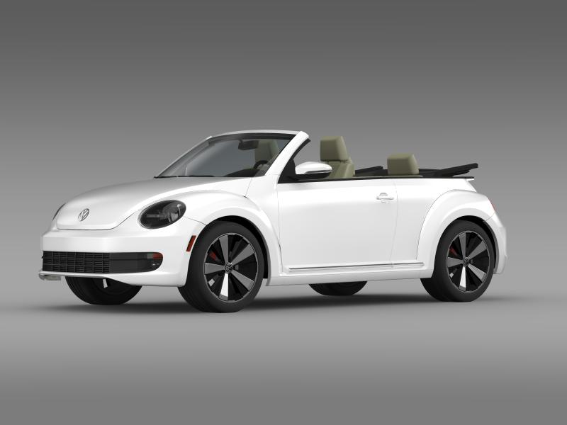 vw beetle turbo cabrio 3d model 3ds max fbx c4d lwo ma mb hrc xsi obj 159902