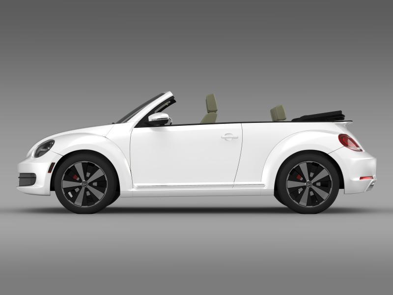 vw beetle turbo cabrio 3d model 3ds max fbx c4d lwo ma mb hrc xsi obj 159903