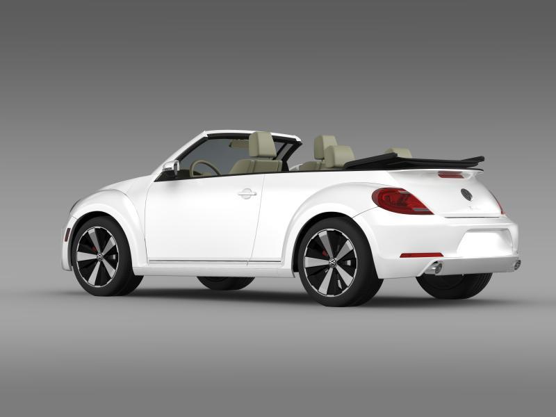 vw beetle turbo cabrio 3d model 3ds max fbx c4d lwo ma mb hrc xsi obj 159904