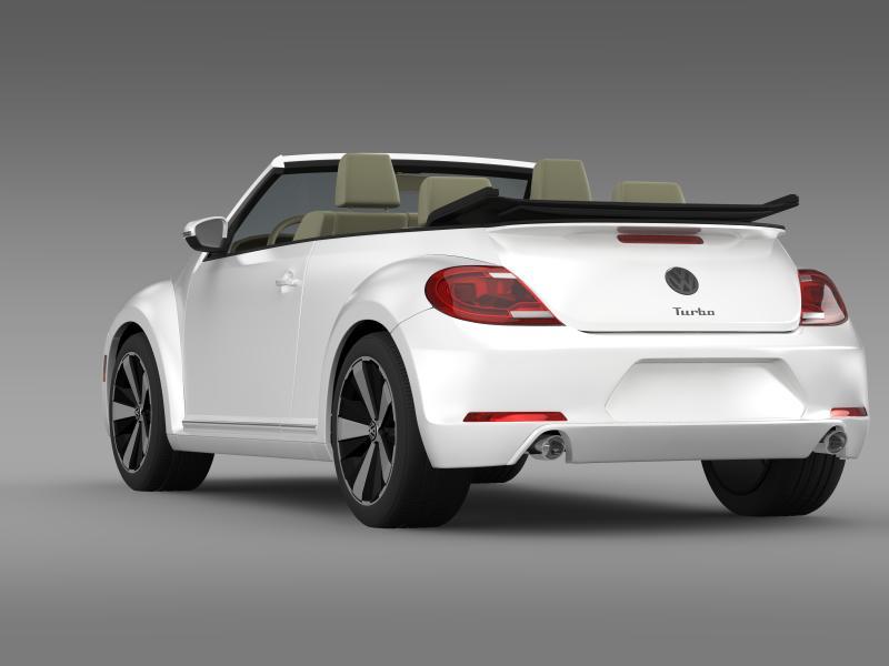 vw beetle turbo cabrio 3d model 3ds max fbx c4d lwo ma mb hrc xsi obj 159905