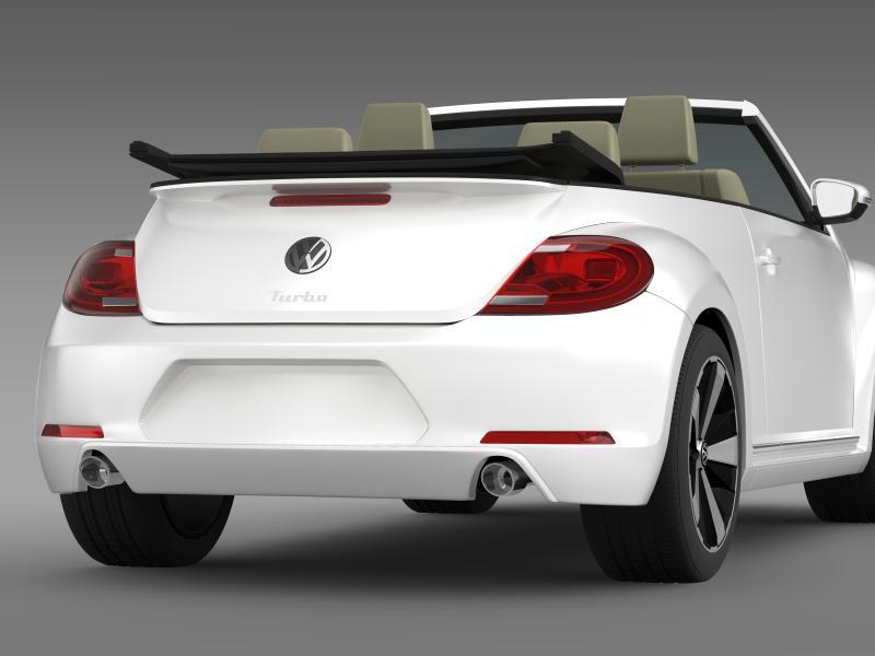 vw бубачки турбо кабрио 3d модел 3ds макс fbx c4d двома мб хрц xsi obj 159906