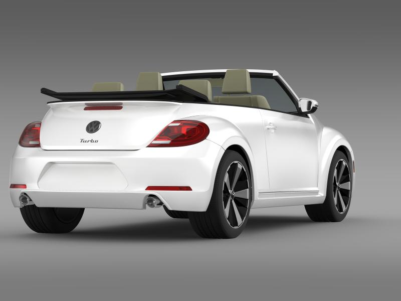 vw beetle turbo cabrio 3d model 3ds max fbx c4d lwo ma mb hrc xsi obj 159907
