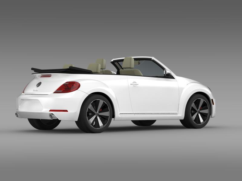 vw beetle turbo cabrio 3d model 3ds max fbx c4d lwo ma mb hrc xsi obj 159908