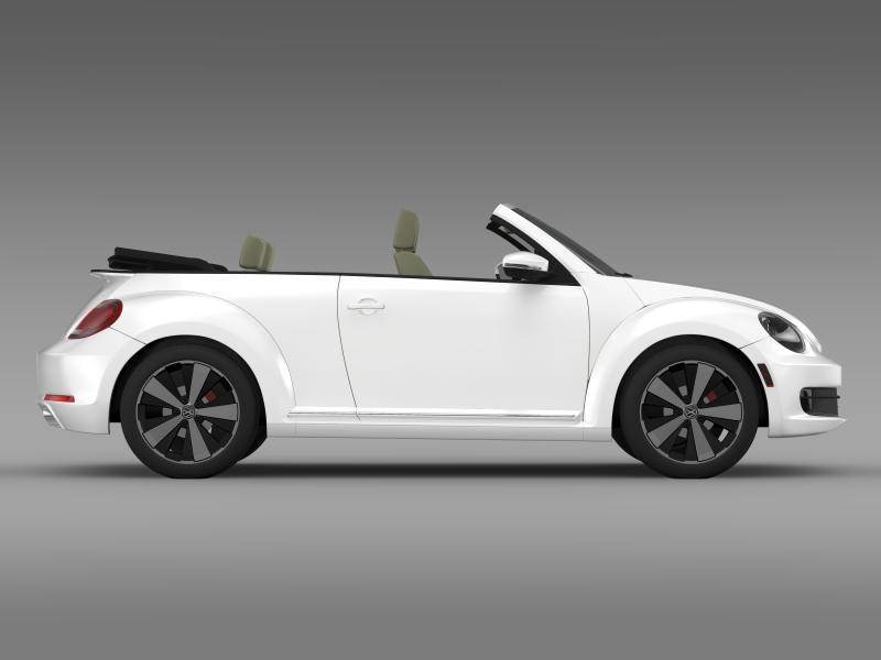 vw beetle turbo cabrio 3d model 3ds max fbx c4d lwo ma mb hrc xsi obj 159909