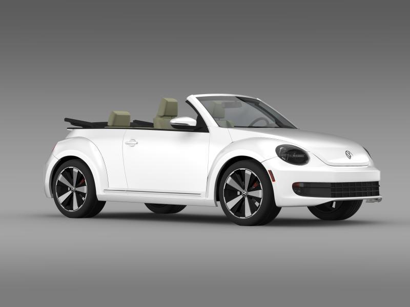 vw beetle turbo cabrio 3d model 3ds max fbx c4d lwo ma mb hrc xsi obj 159910