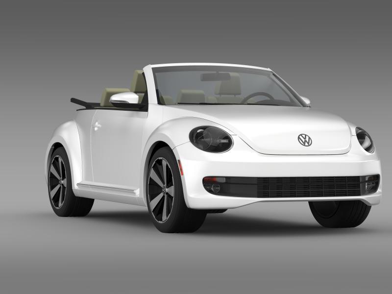 vw beetle turbo cabrio 3d model 3ds max fbx c4d lwo ma mb hrc xsi obj 159911