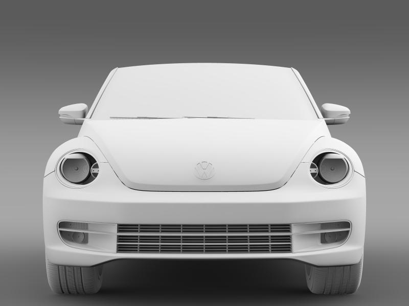 vw beetle turbo cabrio 3d model 3ds max fbx c4d lwo ma mb hrc xsi obj 159912