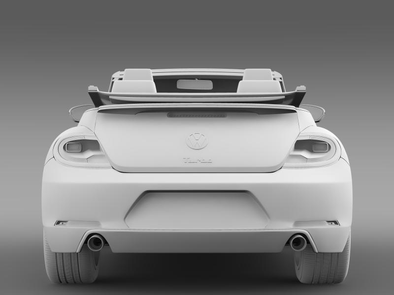 vw beetle turbo cabrio 3d model 3ds max fbx c4d lwo ma mb hrc xsi obj 159913