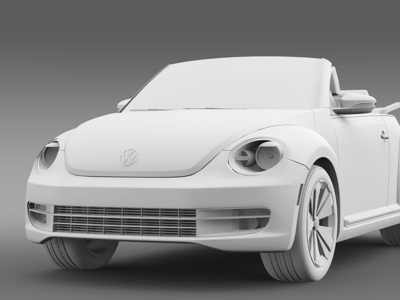 vw beetle turbo cabrio 3d model 3ds max fbx c4d lwo ma mb hrc xsi obj 159914