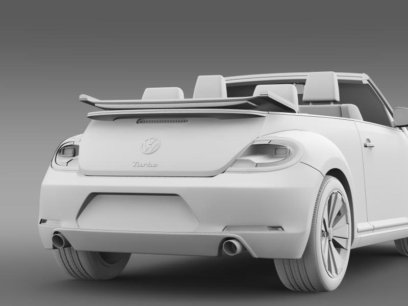 vw beetle turbo cabrio 3d model 3ds max fbx c4d lwo ma mb hrc xsi obj 159915