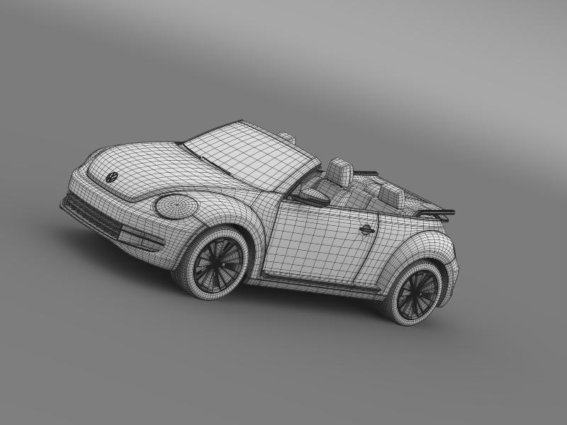 vw beetle turbo cabrio 3d model 3ds max fbx c4d lwo ma mb hrc xsi obj 159916