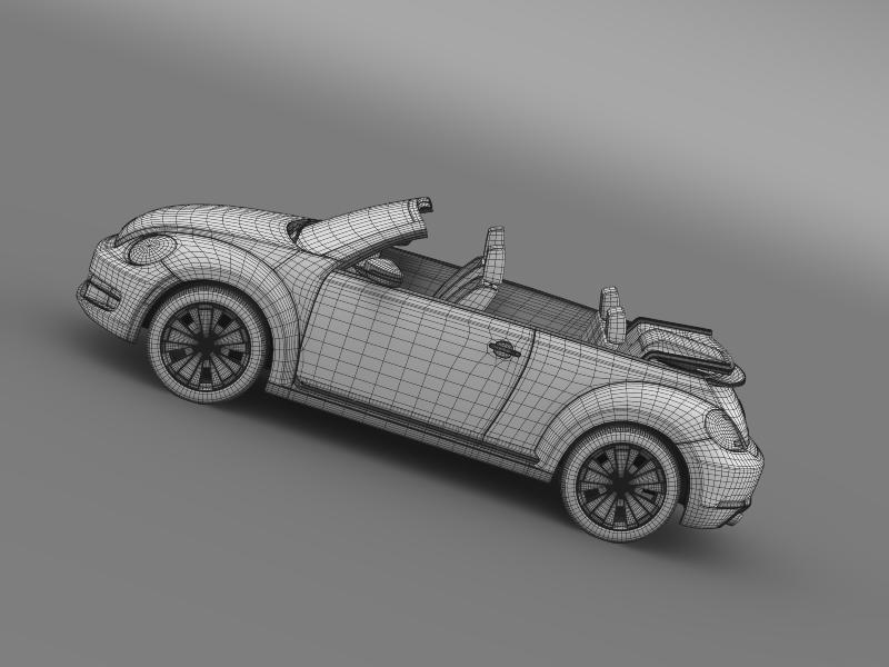 vw beetle turbo cabrio 3d model 3ds max fbx c4d lwo ma mb hrc xsi obj 159917