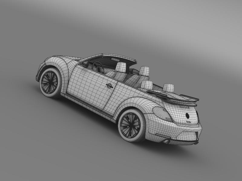 vw бубачки турбо кабрио 3d модел 3ds макс fbx c4d двома мб хрц xsi obj 159918