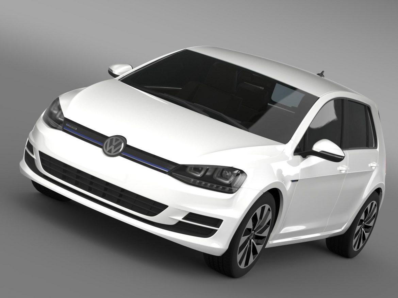 vw golf bluemotion concept typ 5g 2012 3d model 3ds max fbx c4d lwo ma mb hrc xsi obj 165971