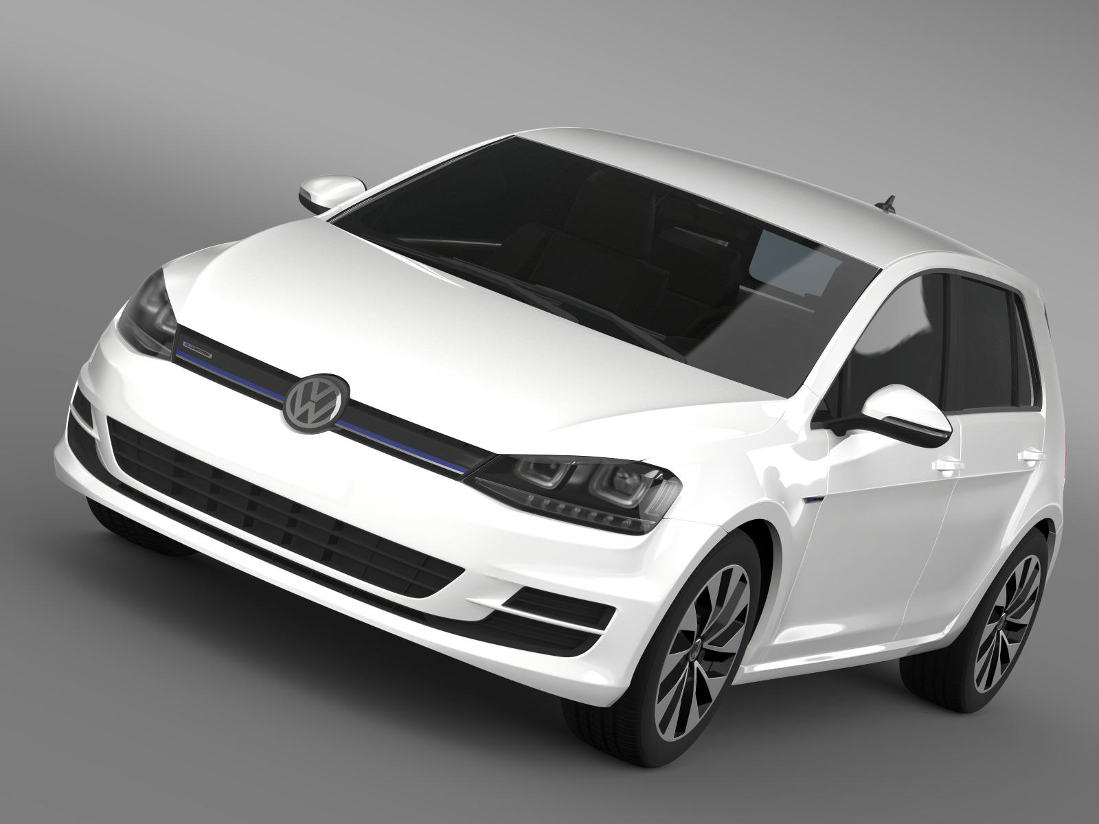 vw golf bluemotion koncept tip 5g 2012 3d model 3ds max fbx c4d lwo ma mb hrc xsi obj 165971