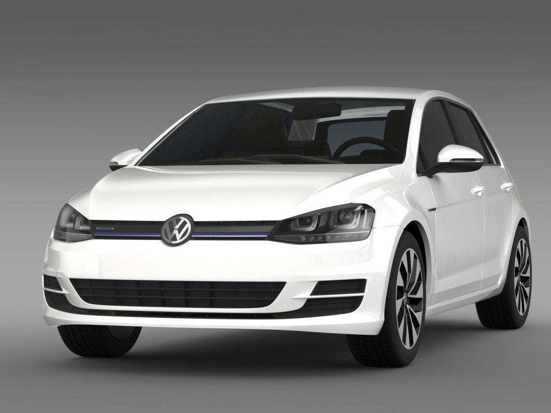 vw golf bluemotion concept typ 5g 2012 3d model 3ds max fbx c4d lwo ma mb hrc xsi obj 165973