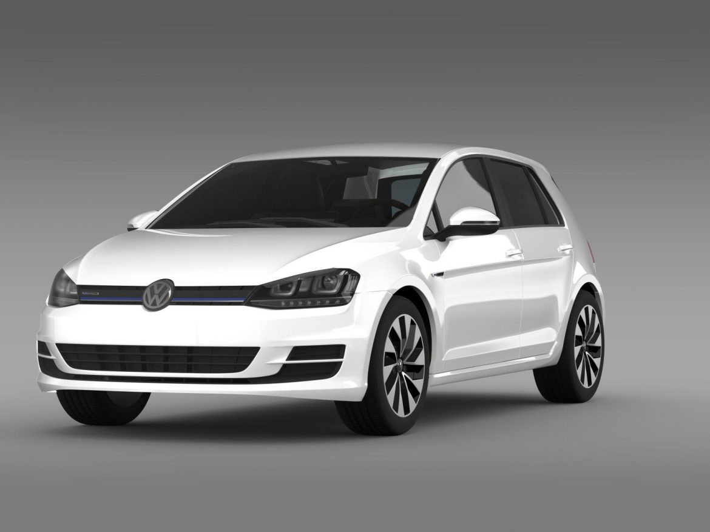 vw golf bluemotion concept typ 5g 2012 3d model 3ds max fbx c4d lwo ma mb hrc xsi obj 165974