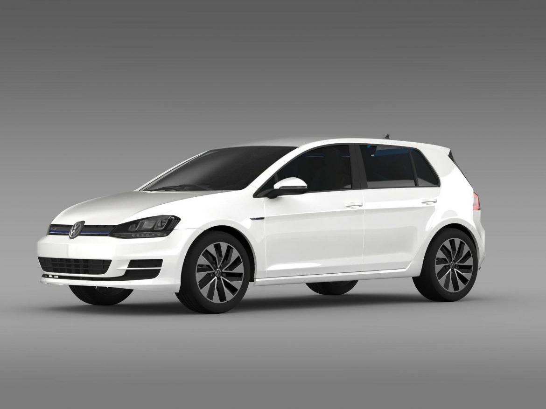 vw golf bluemotion concept typ 5g 2012 3d model 3ds max fbx c4d lwo ma mb hrc xsi obj 165975