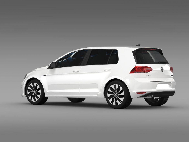 vw golf bluemotion concept typ 5g 2012 3d model 3ds max fbx c4d lwo ma mb hrc xsi obj 165976