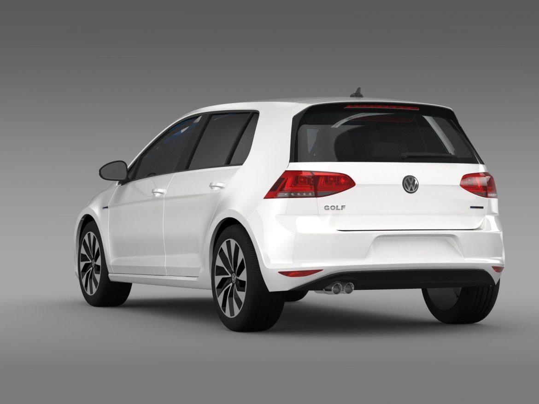 vw golf bluemotion concept typ 5g 2012 3d model 3ds max fbx c4d lwo ma mb hrc xsi obj 165978