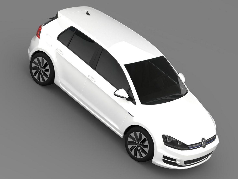 vw golf bluemotion concept typ 5g 2012 3d model 3ds max fbx c4d lwo ma mb hrc xsi obj 165982