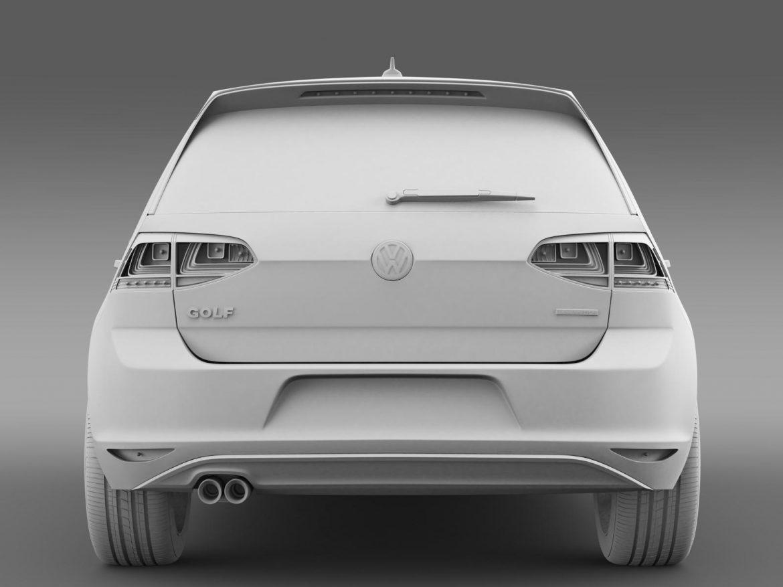 vw golf bluemotion concept typ 5g 2012 3d model 3ds max fbx c4d lwo ma mb hrc xsi obj 165984