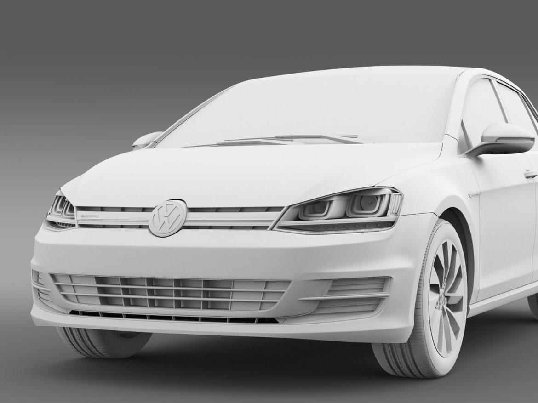 vw golf bluemotion concept typ 5g 2012 3d model 3ds max fbx c4d lwo ma mb hrc xsi obj 165985