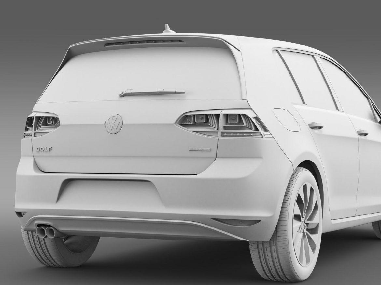 vw golf bluemotion concept typ 5g 2012 3d model 3ds max fbx c4d lwo ma mb hrc xsi obj 165986