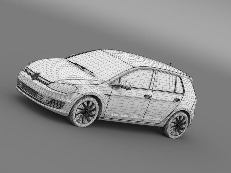 vw golf bluemotion concept typ 5g 2012 3d model 3ds max fbx c4d lwo ma mb hrc xsi obj 165987