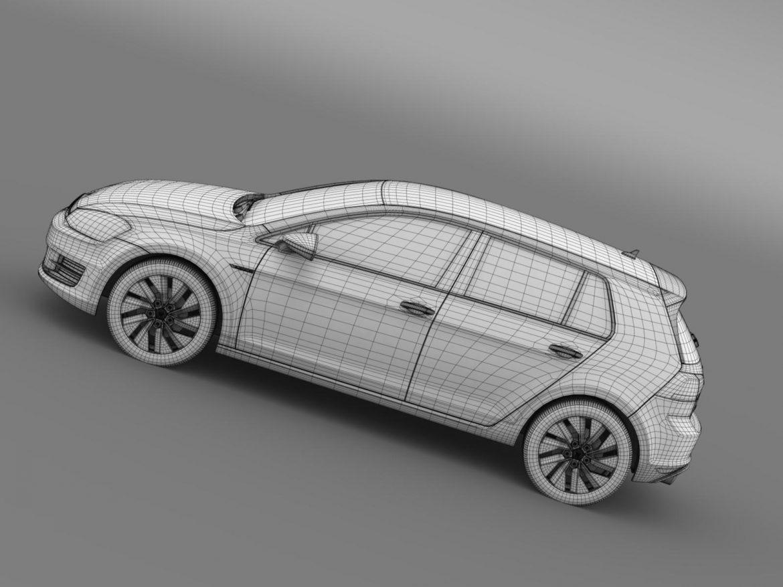 vw golf bluemotion concept typ 5g 2012 3d model 3ds max fbx c4d lwo ma mb hrc xsi obj 165988