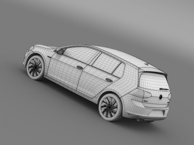 vw golf bluemotion concept typ 5g 2012 3d model 3ds max fbx c4d lwo ma mb hrc xsi obj 165989