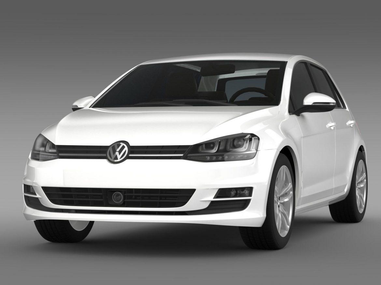 vw golf tdi 4motion 5d typ 5g 2012 3d model 3ds max fbx c4d lwo ma mb hrc xsi obj 165049