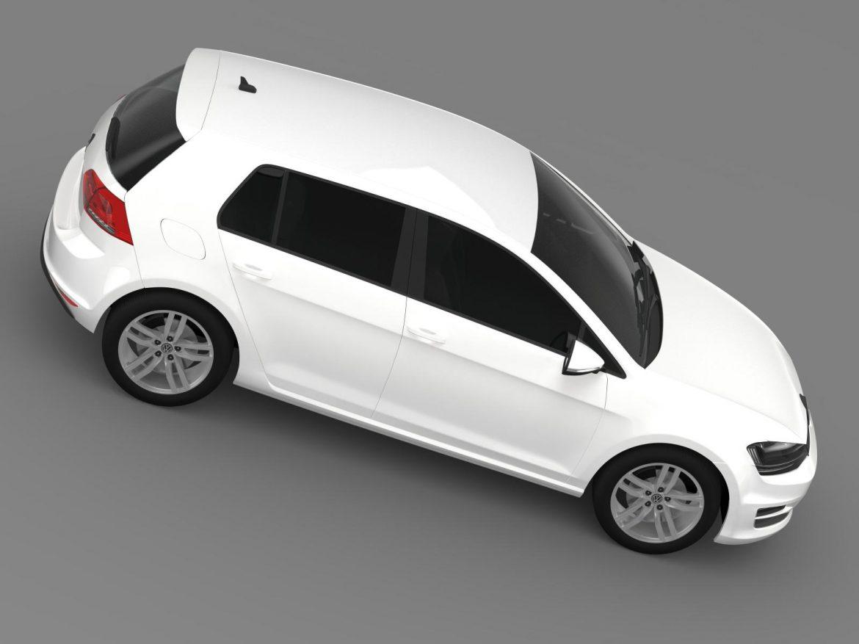 vw golf tdi 4motion 5d typ 5g 2012 3d model 3ds max fbx c4d lwo ma mb hrc xsi obj 165056