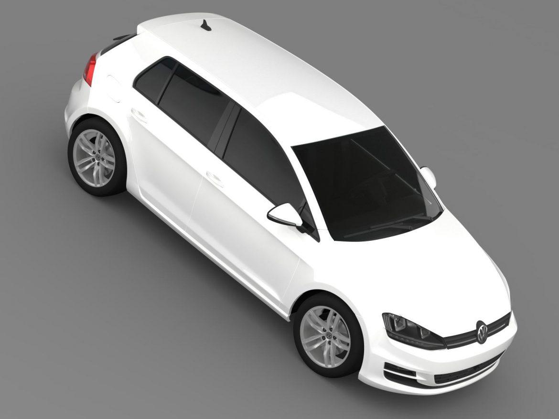 vw golf tdi 4motion 5d typ 5g 2012 3d model 3ds max fbx c4d lwo ma mb hrc xsi obj 165057