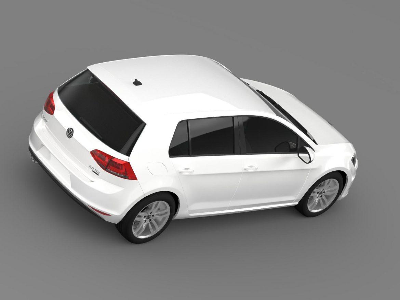 vw golf tdi 4motion 5d typ 5g 2013 3d model 3ds max fbx c4d lwo ma mb hrc xsi obj 165037