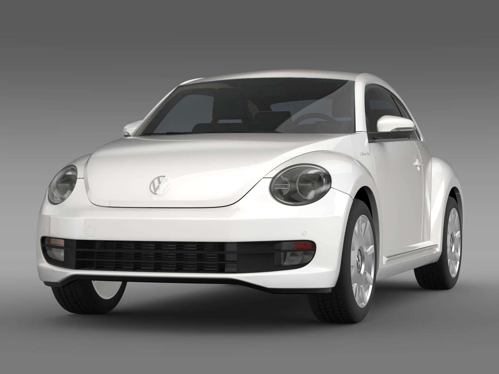 vw i beetle 2015 3d model. Black Bedroom Furniture Sets. Home Design Ideas