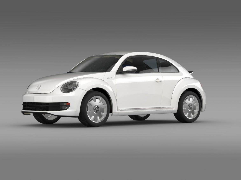 vw i beetle 2015 3d model 3ds max fbx c4d lwo ma mb hrc xsi obj 153278